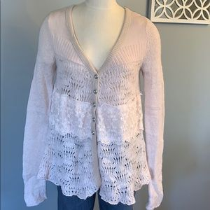 Blush pink Free people cardigan medium